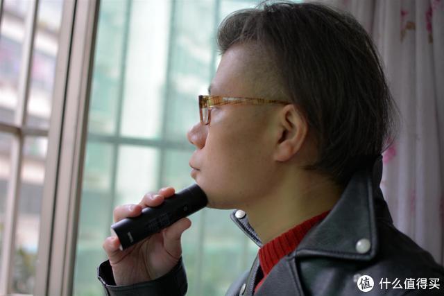 涡轮式三叶刀网、低噪音、体验不一样的须眉便携电动剃须刀