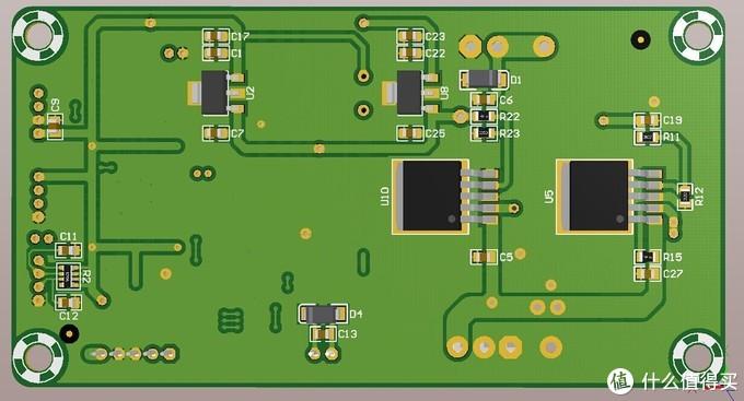 PCB板效果图反面