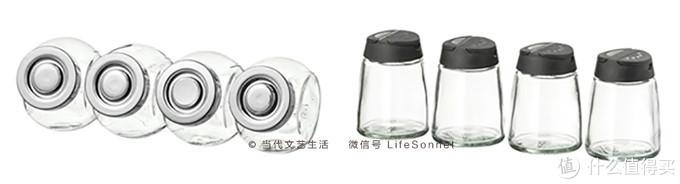 推荐左边的这种密封调料罐,而不是右边这种易受潮的