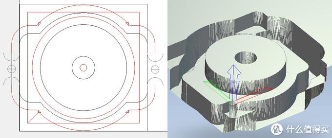 左边是ARTCAM里面做好的刀路,右边是3D效果图