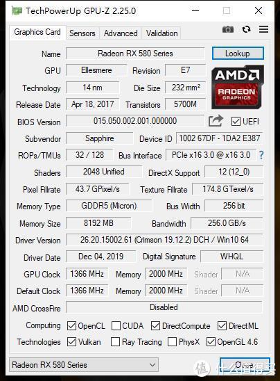 GPU主频:1366MHz,显存2GHz,堪称超白金OC外最强规格