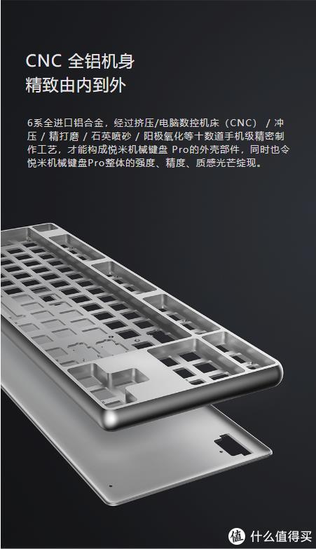 小米机械键盘:悦米pro,年轻人的第一把铝合金键盘 使用感受及改造.