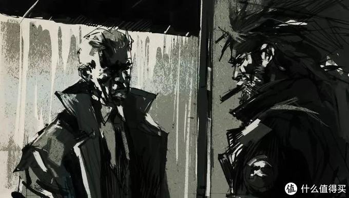 PSP合金装备 和平行者 阿什利·伍德绘制的过场插画
