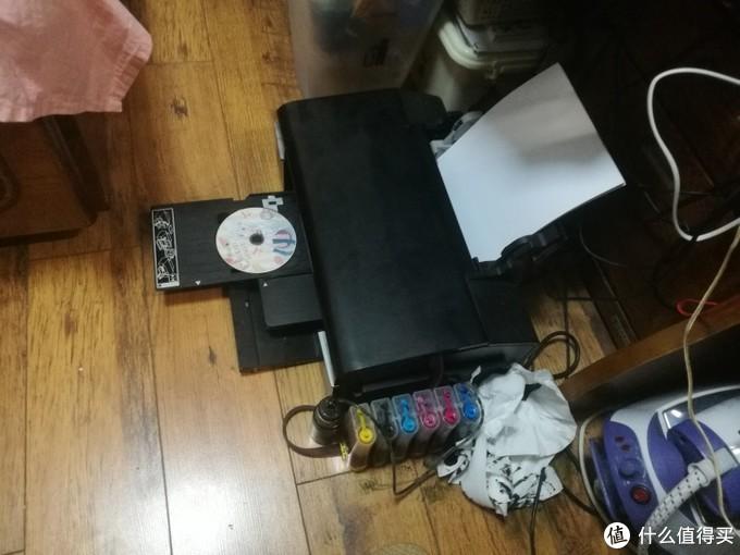 EPSON六色打印机改装连供废墨仓