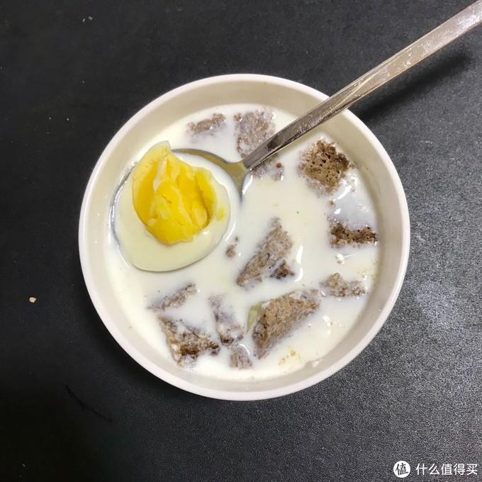 加个鸡蛋完美一餐,牛奶250ml一次喝不完, 180ml刚刚好适合我