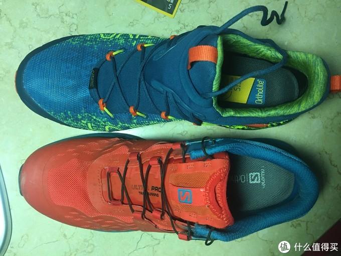 两款鞋都搭载同品牌专业鞋垫