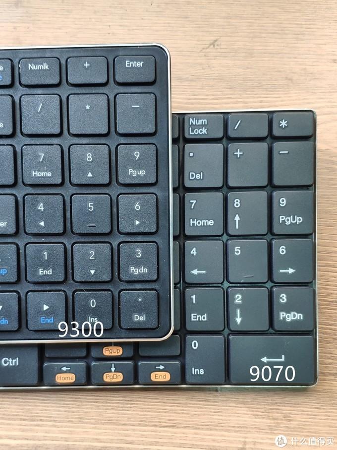 都不完美,雷柏新老无线键盘E9300 PK E9070