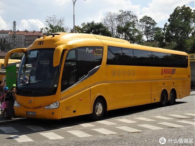 RegioJet的大巴车,图片来自网络