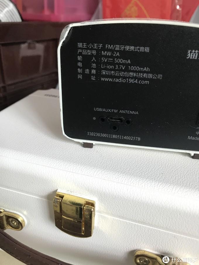 猫王小王子的充电口。旁边三个小孔是固定天线用的。