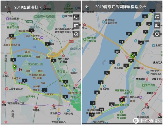 玄武湖的大圈10K,几乎每个马拉松级别的跑友去到南京都打卡过;江心洲也是周末LSD的好地方