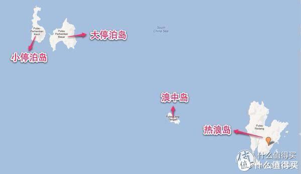 附近海岛示意图