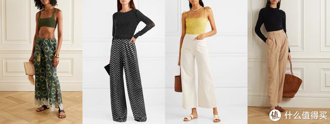 组合一:合身上衣+阔腿裤。多么平衡和谐!