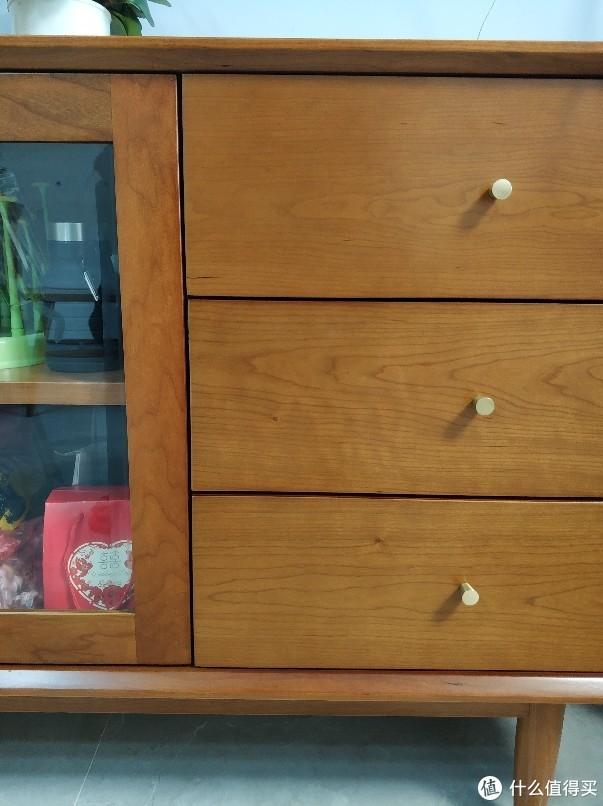 看下1000不到的樱桃木餐边柜