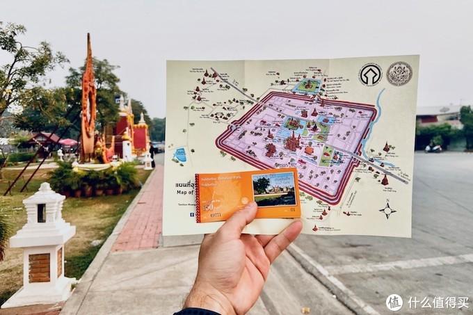 历史公园大致分为三个板块。分别需要100铢门票,单车票是10铢。