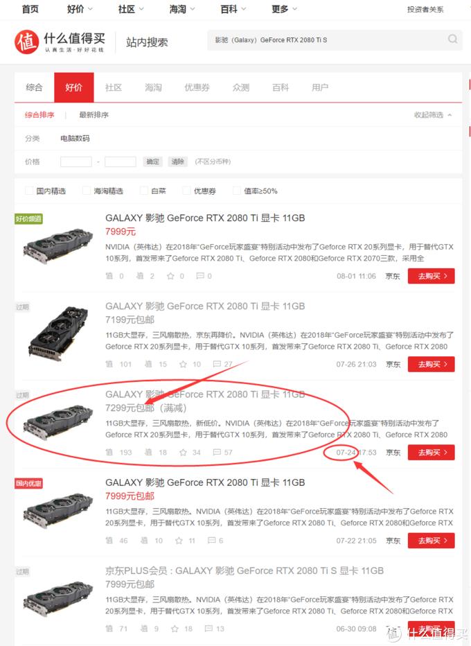 在什么值得买查一下得知,京东竟然也出过7299的价格!