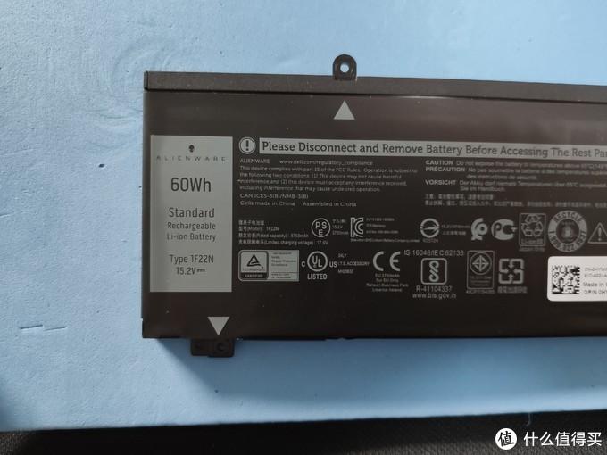 60whr电池,型号1F22N,某宝大概200元左右