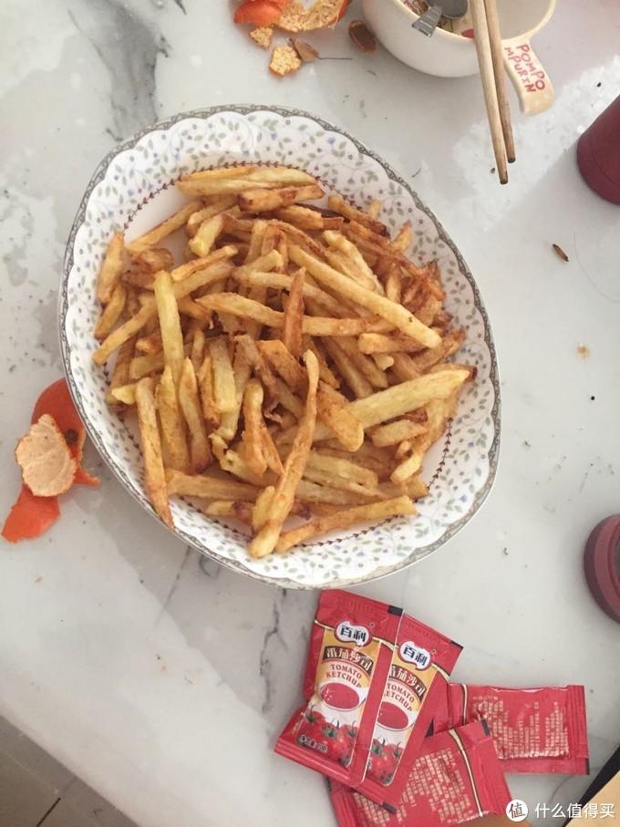 炸的薯条,孩子爱吃。