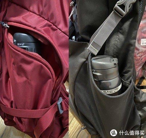19款侧袋改为拉链袋,大小足够,但一边拉链袋一边弹力袋或许更实用吧(22L就是弹力袋