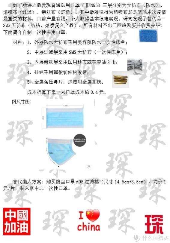 原创~自制一次性医用口罩~中国加油~上海最棒~