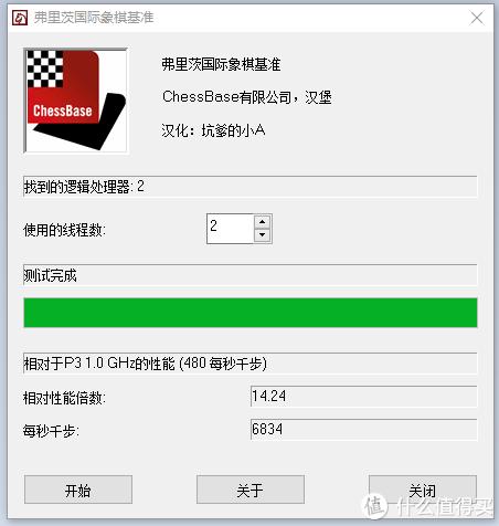 4.5GHz G3258国际象棋测试:6834