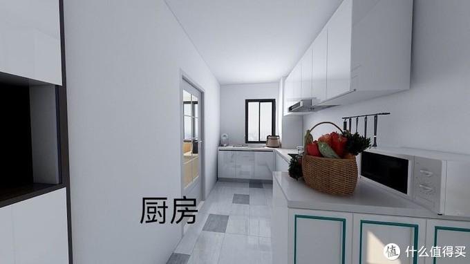 厨房和玄关半墙分隔