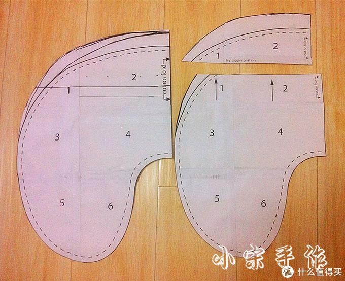 背面的图纸是分开的,用于装拉链