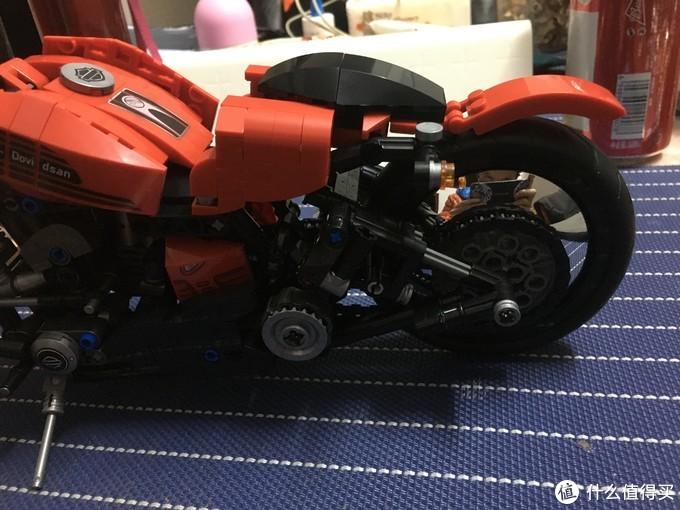 森宝积木第二弹--哈雷摩托车