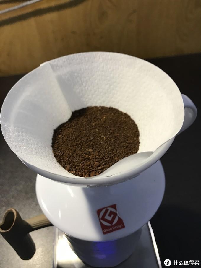 拍平后的咖啡粉