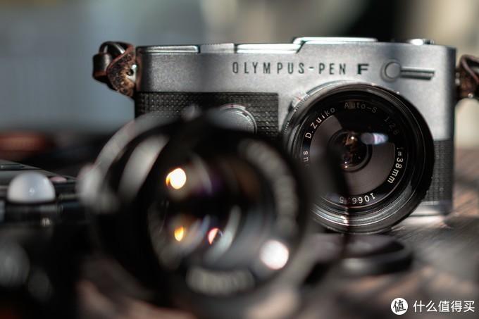 胶片微单-奥林巴斯PEN-FV一机三镜
