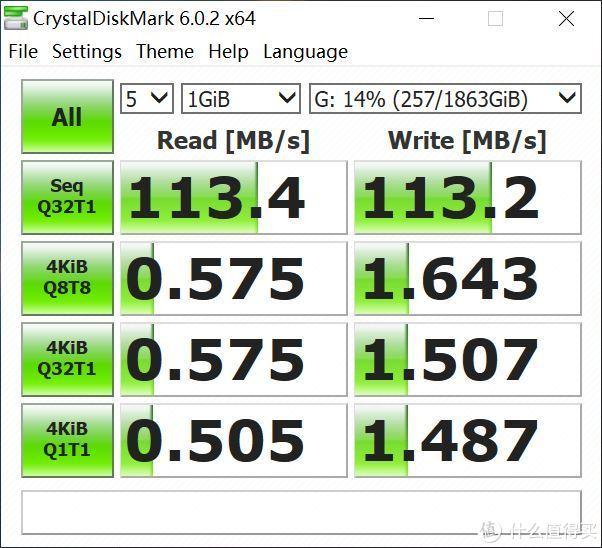 CrystalDiskMark 1G