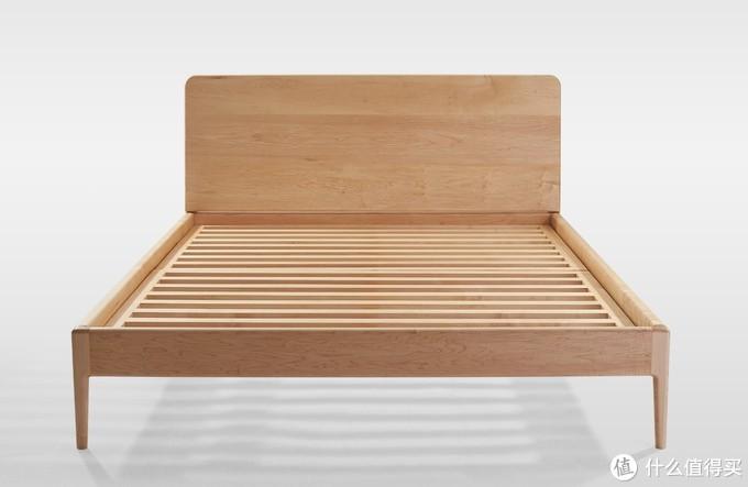 现代简洁的床,美国硬枫,丘山