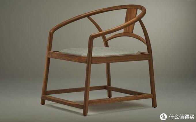中式风格的圈椅,美国黑胡桃,半木