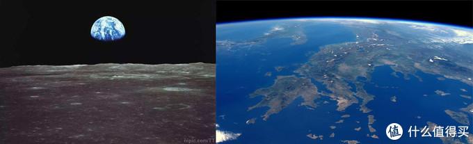 月球上看地球/空间站上看地球