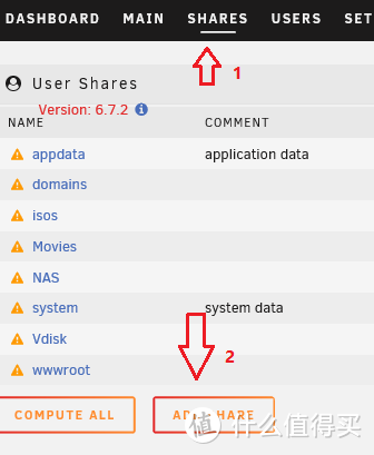 UNRAID页面点击SHARES->ADD SHARE