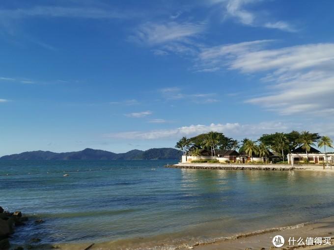香格里拉度假村的spa区域,我站的地方就是日落酒吧了