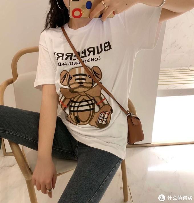 格纹小熊T恤
