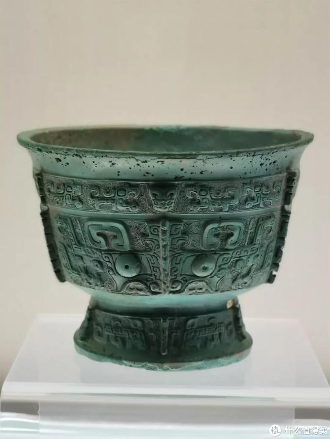 兽面纹簋 西周早期 上海博物馆高圈足折腹无耳式