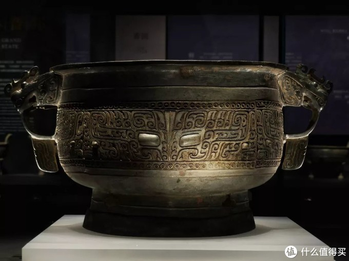 兽面纹簋 商山西青铜博物馆侈口束颈兽首耳式