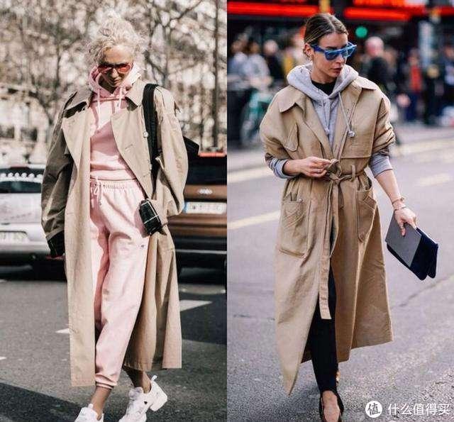 卡其色风衣的三种经典搭配,街拍出镜率高,再穿10年也不会过时