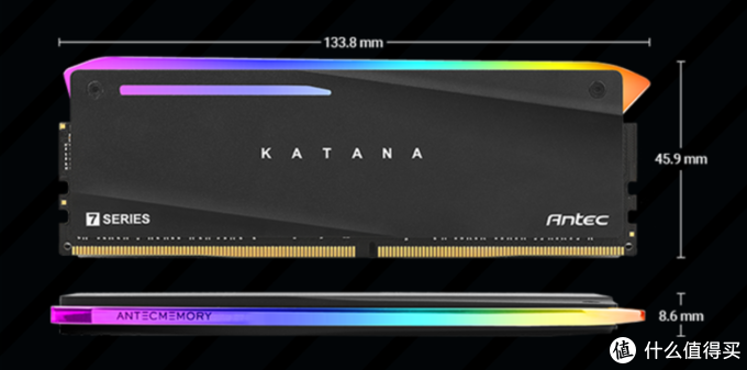 刀锋出鞘、RGB幻彩:Antec 安钛克 发布 Katana RGB DDR4内存