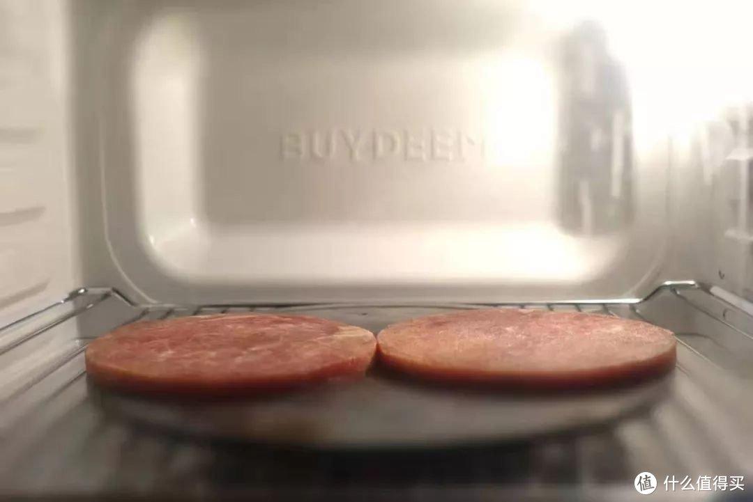 导热板配合烤箱解冻模式解冻牛排