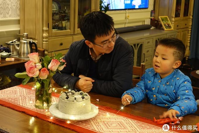 摩羯座老公生日烤的黑芝麻奶油蛋糕