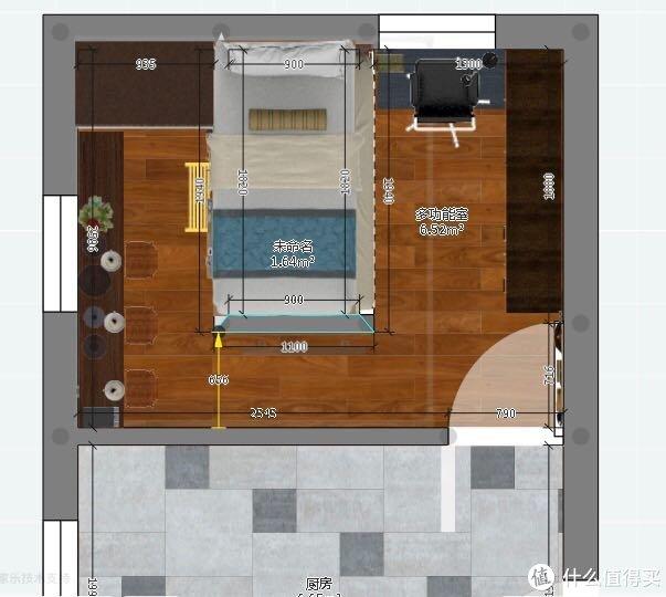57平四室两厅是空中楼阁?奉上详细尺寸