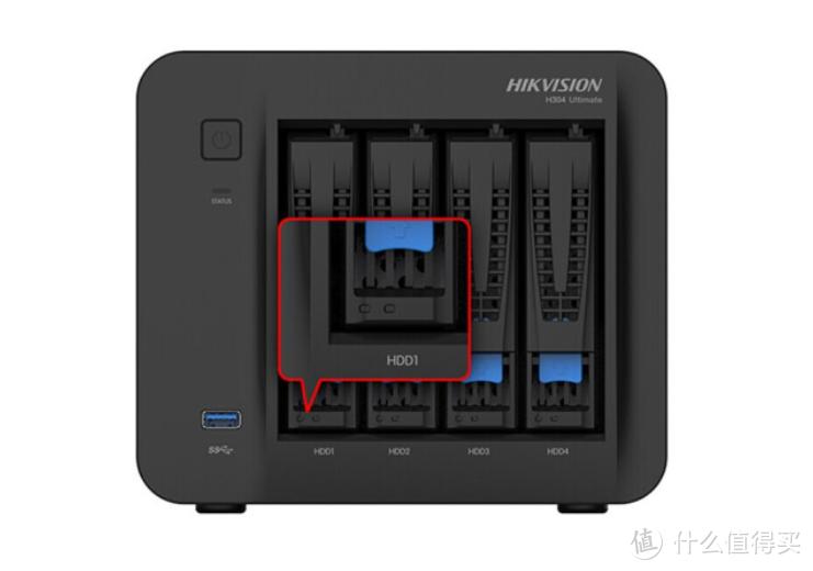 高效协同办公、多元化管理、视频监控:海康威视 H304企业版NAS网络存储服务器
