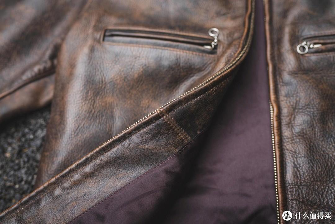 一件咔的一批的皮衣——RRL Owens做旧牛皮皮衣