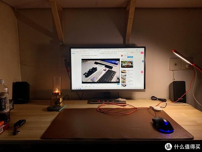 原先用的飞利浦的桌面led灯,光源是斜照的效果并不好。
