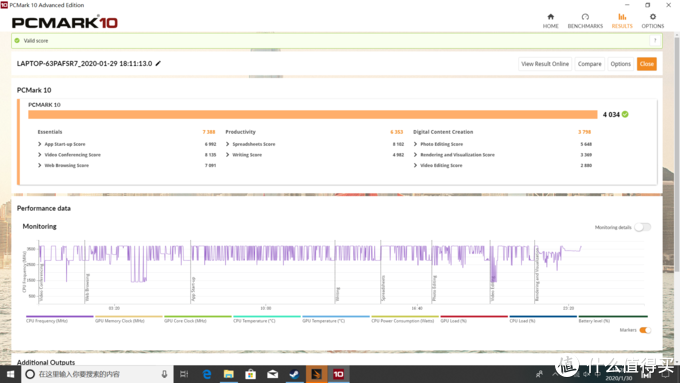 ▲ PCMark测试结果,4000+的分数,这颗处理器应对日常的办公完全无压力。