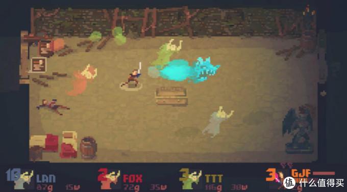 游戏的战斗画面,一个英雄三个鬼
