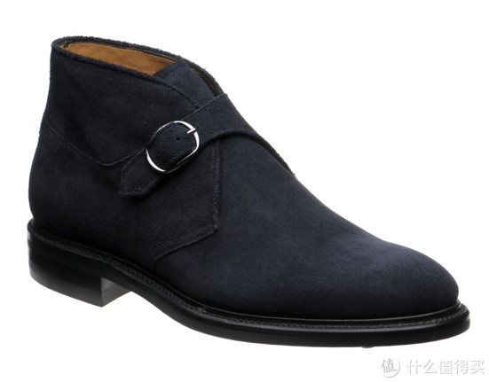Suede Single Buckle Monk Boot