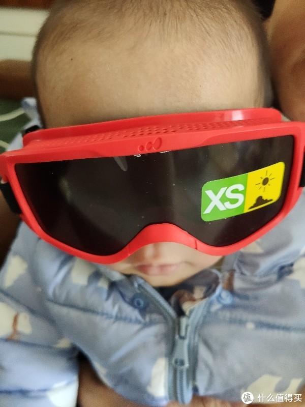 做好儿童全方位防护:迪卡侬 防雾 通风 可调节婴幼儿滑雪护目镜